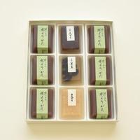 冷菓詰合せ9個入り箱:豆入寒天×3・水ようかん×6