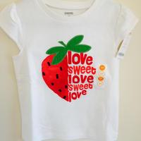 HappyFroggyレアコレクション Gymboreeイチゴの半袖Tee 5T