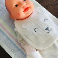 〈新生児サイズ〉クマちゃんホワイト、スタイ、靴下、肌着セット