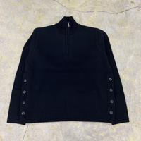 Allege. | Harf Zip Knit | BLACK