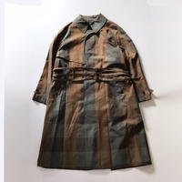 sugarhill | PLAID BALMACAAN COAT | KHAKI