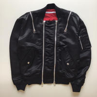 JOHNLAWRENCESULLIVAN | ZIPPED BOMBER JACKET  | BLACK