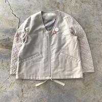 Ernie Palo | Quilting Sleeve Zip Blouson | Beige