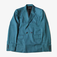YUKI HASHIMOTO |  DOUBLE BREASTED JACKET | GREEN