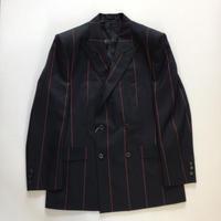 LITTLEBIG | Stripe Double Breasted Jacket | BLACK