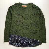 THRIFT | Docking L/S T-shirt | GREEN×BLACK