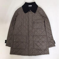 MATSUFUJI | Wool Quilted Knit Collar Coat | BROWN