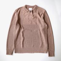 Kota Gushiken | Hand Made Granpa Polo Shirt | Beige