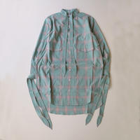 sugarhill | OMBRE RIBBON LONG SHIRT | Green