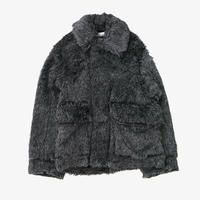 DAIRIKU | Vinyl Patch Fur Coat | GREY