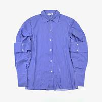 DELADA | PUFFY SLEEVE SHIRT | HICK BLUE STRIPE