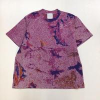 Kota Gushiken | Knitted Tye-Dye-ish T shirt | Purple
