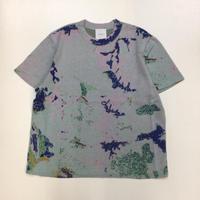 Kota Gushiken | Knitted Tye-Dye-ish T shirt | Light Blue