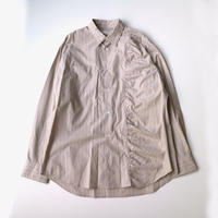 kudos | GATHERED SHIRT | BROWN