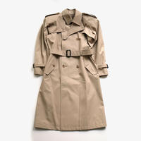 JOHNLAWRENCESULLIVAN | COTTON TWILL POWER SHOULDER TRENCH COAT | BEIGE