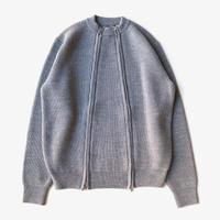 Allege. | Double Zip Rib Knit  | GRAY