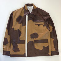 MATSUFUJI | Patchwork Leather Modified Farmers Jacket | COW