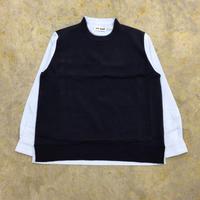 TTT MSW | Knit docking shirt | navy