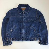 MATSUFUJI | Stone Bio Wash Denim Jacket | BLUE