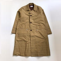 kudos | CHECK PATCH COAT | BEIGE