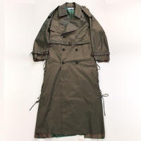 sugarhill | Rawedge Lace-up Trench Coat | KHAKI