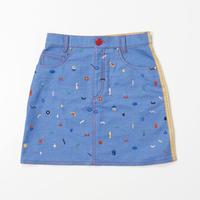 Doodle  Stitch Skirt (YELLOW)