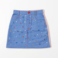 Doodle  Stitch Skirt (PINK)