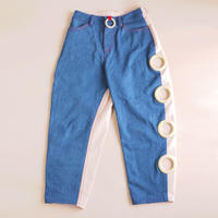 Wood Ring Denim Pants