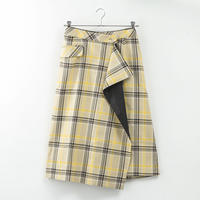 HRMオリジナル 配色チェックラップスカート