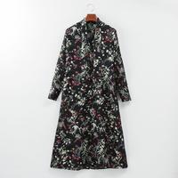 HRMオリジナル ボウタイ フラワープリントドレス(12月上旬~中旬お届け予定)