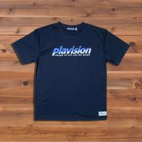 ハーフカット定番ロゴTシャツ(ブラック×サックス)