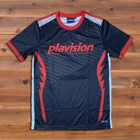 ジェットファイターゲームシャツ(ブラック×レッド)