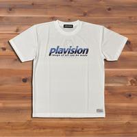 ハーフカット定番ロゴTシャツ(ホワイト×サックス)