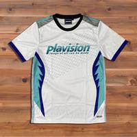 ジェットファイターゲームシャツ(ホワイト×ブルー)