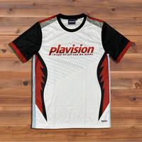 ジェットファイターゲームシャツ(ホワイト×レッド)