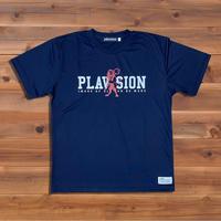 PLAVISION×ライオンTシャツ(ネイビー)