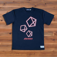 3ペンタゴンTシャツ(ブラック)