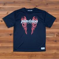 トライバルWライオンTシャツ(ブラック)
