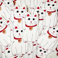 『HAPPY COME COME CAT』  POST CARD