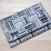 銀ラメシルク(正絹)黒地製 #名刺入れ #カードケース #市松 銀