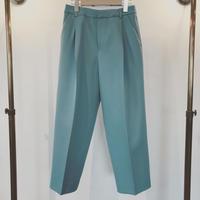 18WP027  CINOH TUCKED WIDE PANTS BLUE/チノタックワイドパンツ