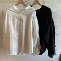 SP154747 バルーンスリーブスタンドカラーシャツ