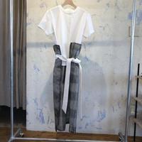 AMBELL   BRIGHT CHECK DRESS