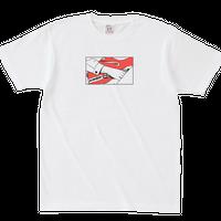 ロゴとギターTシャツ 【ホワイト】
