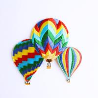 アイロンワッペン【3つのレイボー 気球】アメリカ