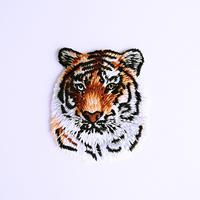 アイロンワッペン【タイガーヘッド 虎】アメリカ