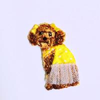 アイロンワッペン【トイプードル dog】アメリカ