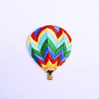 アイロンワッペン【気球 虹色 balloon】アメリカ