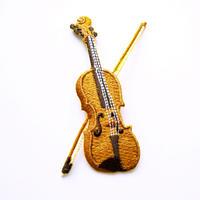 アイロンワッペン【バイオリン】 アメリカ