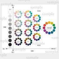 パーソナルカラー説明用 PCCSトーン別色相環 イメージ